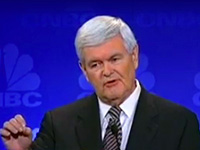 Newt Gingrich at the CNBC GOP Debate