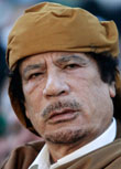 Image: Libyan leader Muammar Gaddafi attends a ceremony marking the birth of the Prophet Mohammed in Tripoli