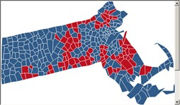 Presidential Race Election Results By State NBC News - Massachusetts political map