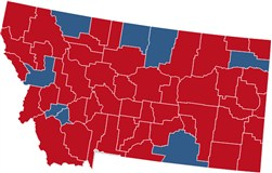 Montana Election Results President Congress Governor NBC News - Montana political map