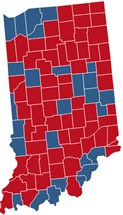 Indiana Election Results  President Congress Governor