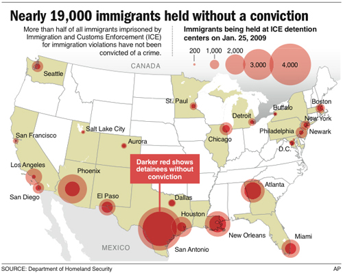image map of detained immigrants