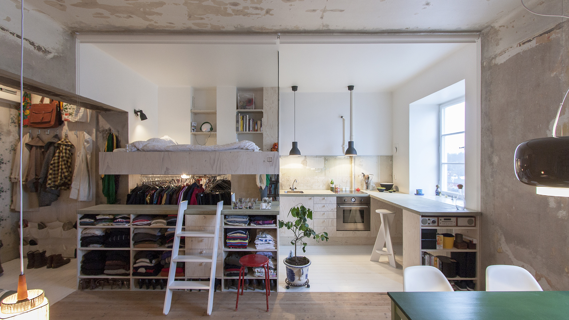 Before-and-after pics: Storage room transforms into studio apartment