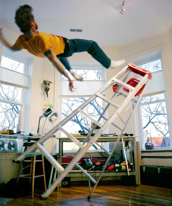 Image result for guy falling off ladder