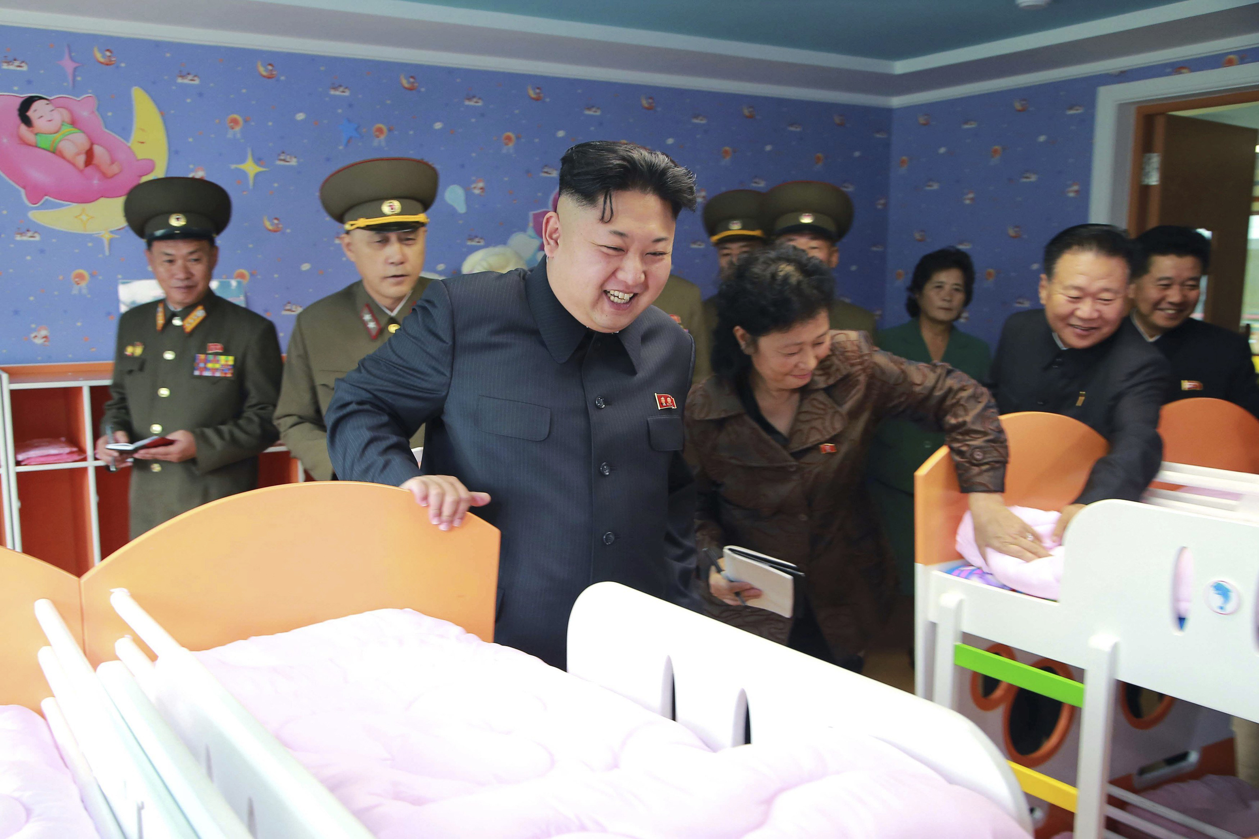Kim Jong Un Closely Inspects Hello Kitty Set at Orphanage ...