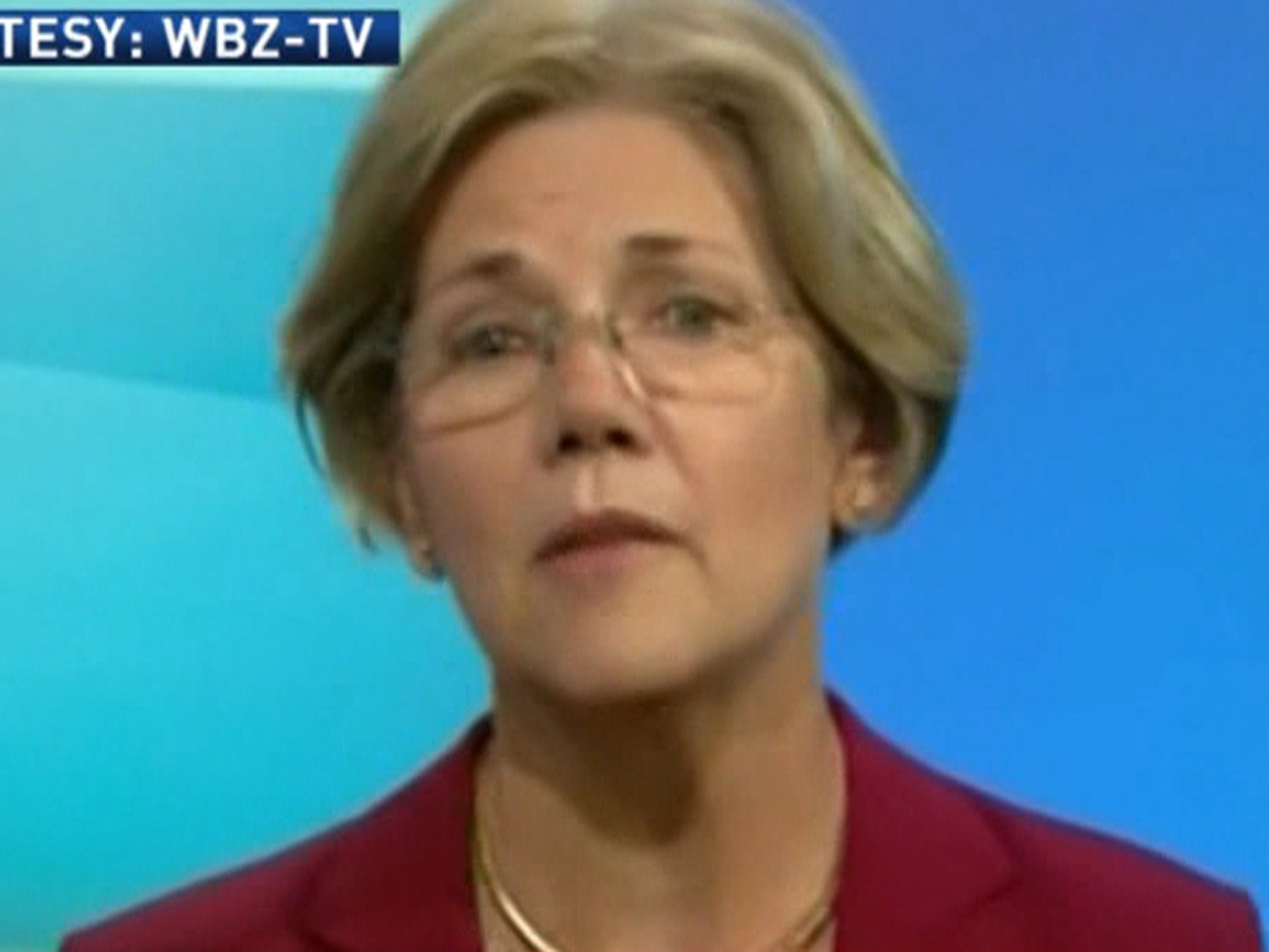 Brown and Warren debate starts with cheap shot