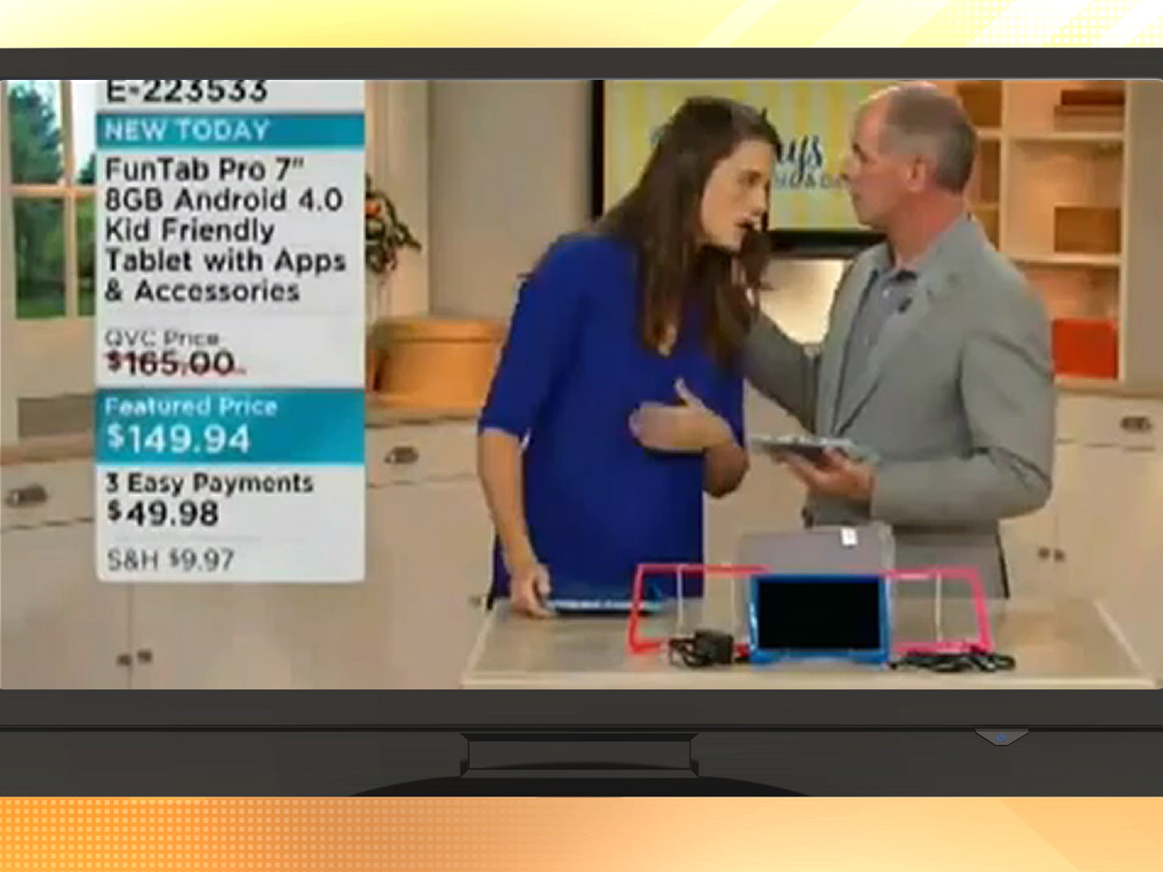 qvc host faints on air, co-host keeps on selling