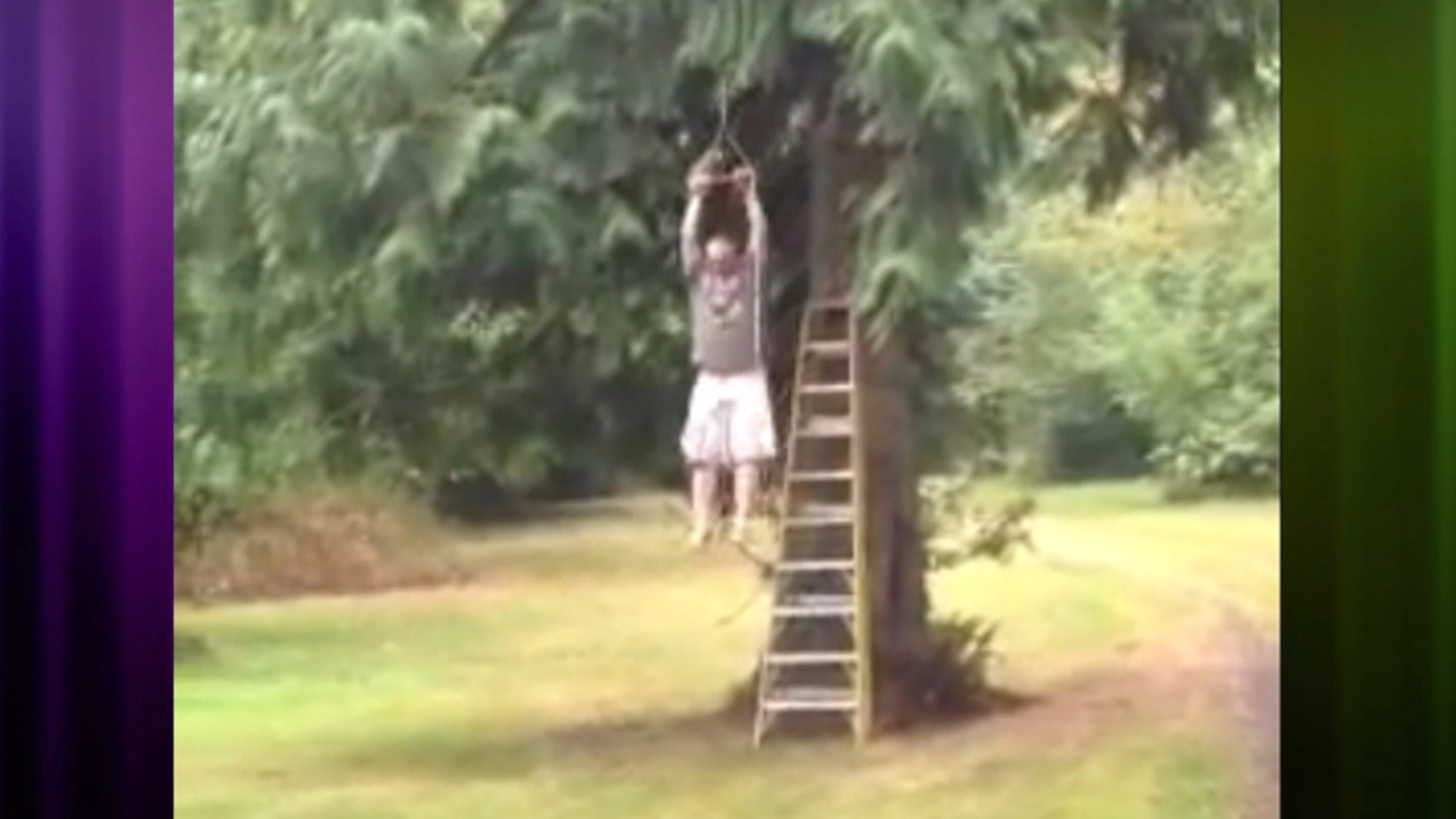 viral video homemade zip line malfunctions today com