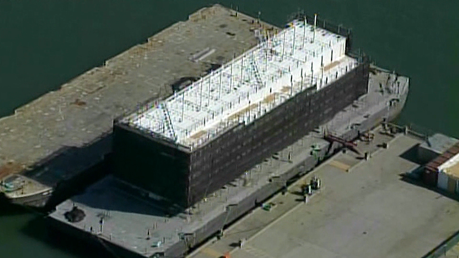 A strange barge has appeared off San Francisco's Treasure Island that is attracting attention. Coast Guard officials confirm it is associated with Google, but the tech giant isn't commenting on what it may be doing there. CNBC's Josh Lipton reports.