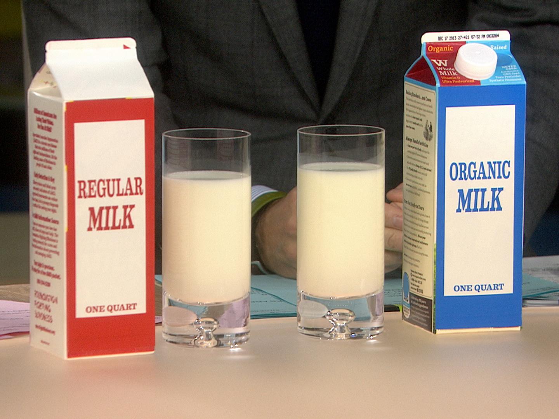 Image result for organic milk next to regular milk