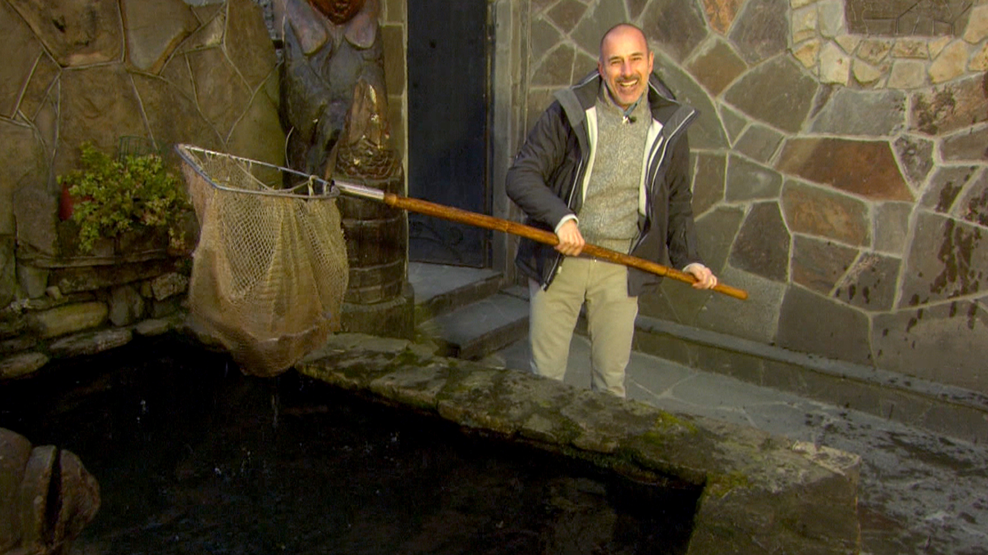 Lauer goes fishing for his dinner in sochi for How is fishing today