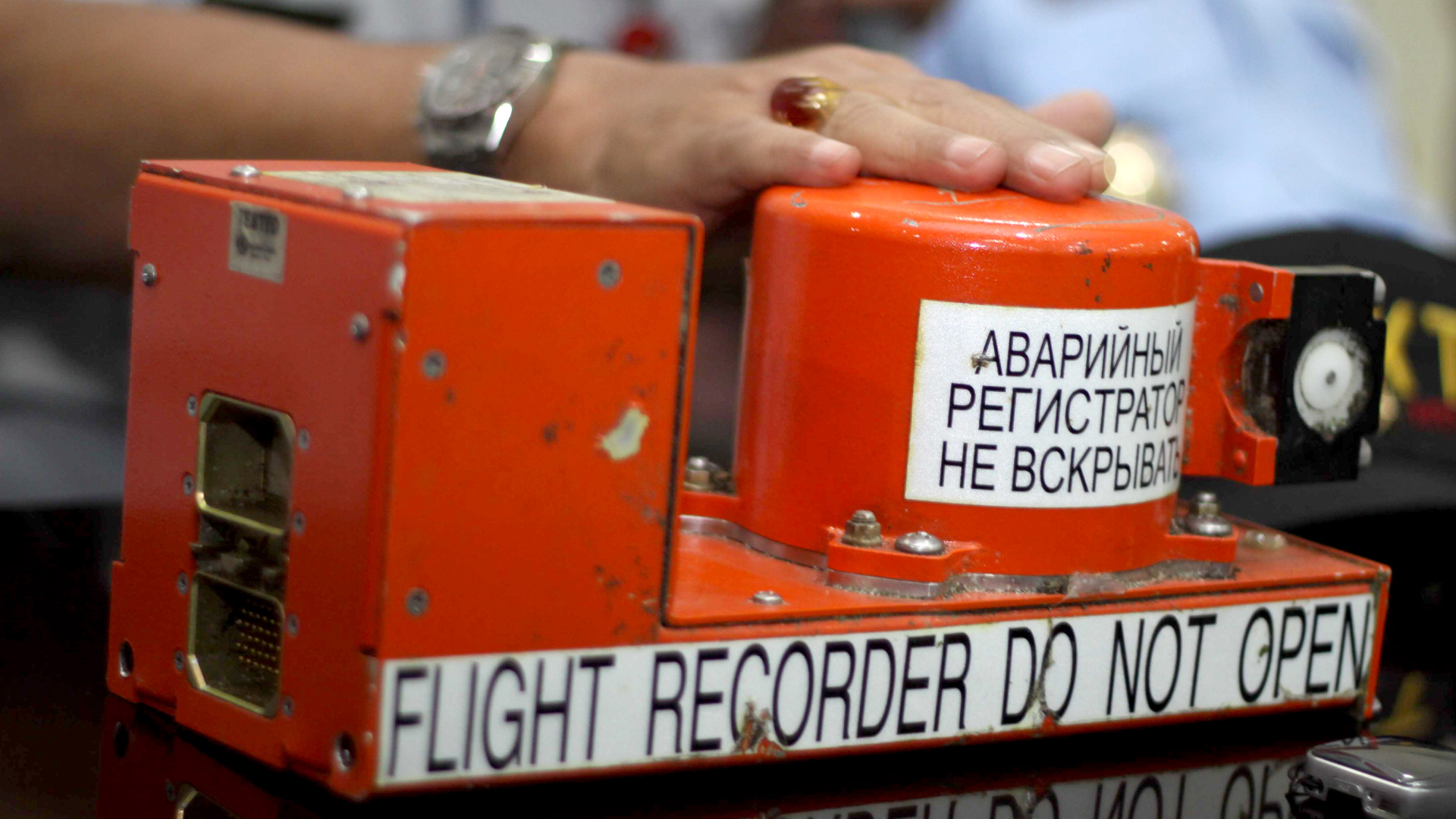 Ilustrasi flight recorder atau yang biasa disebut black box.
