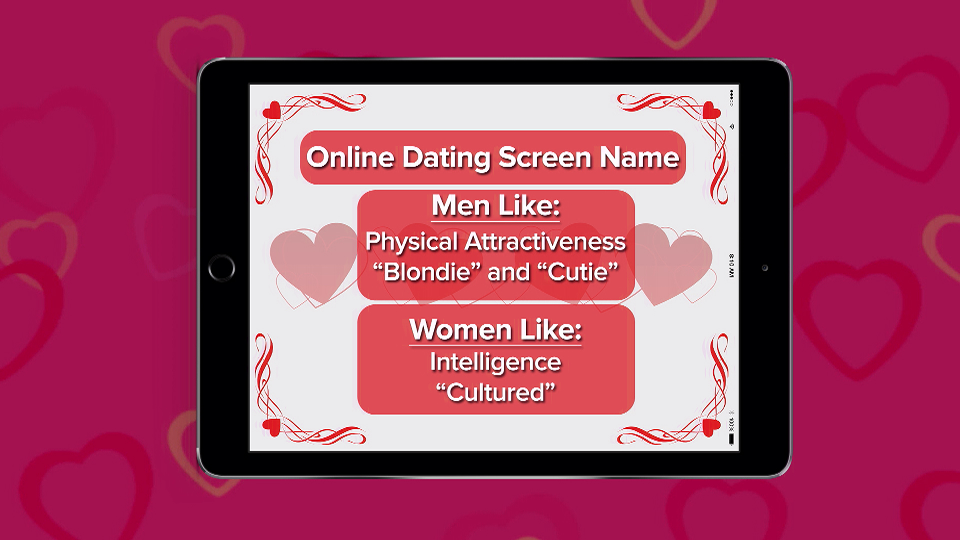 Online dating screen name ideas
