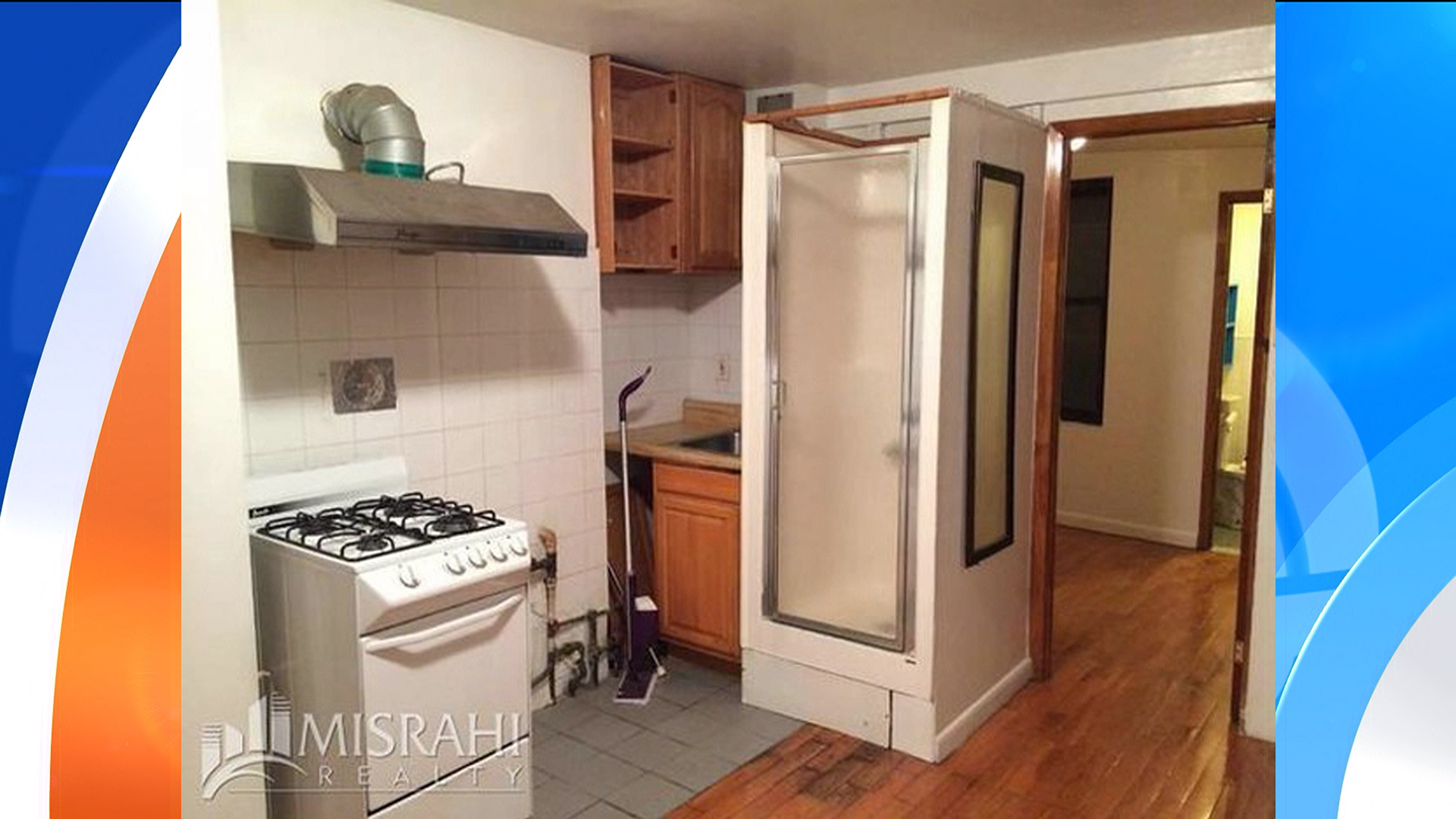 nyc apartment with shower in kitchen renting for 1 795