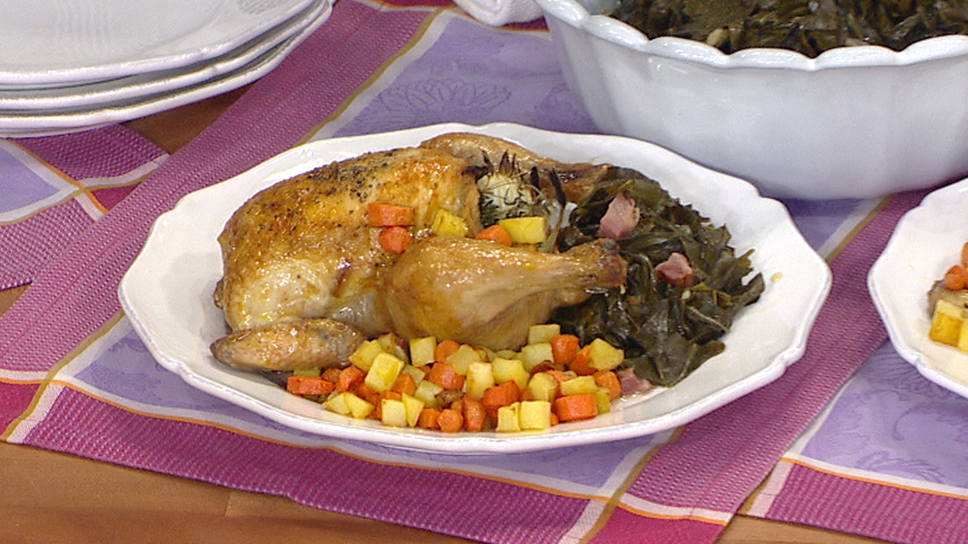 Tia mowry makes cornish hens and collard greens forumfinder Image collections