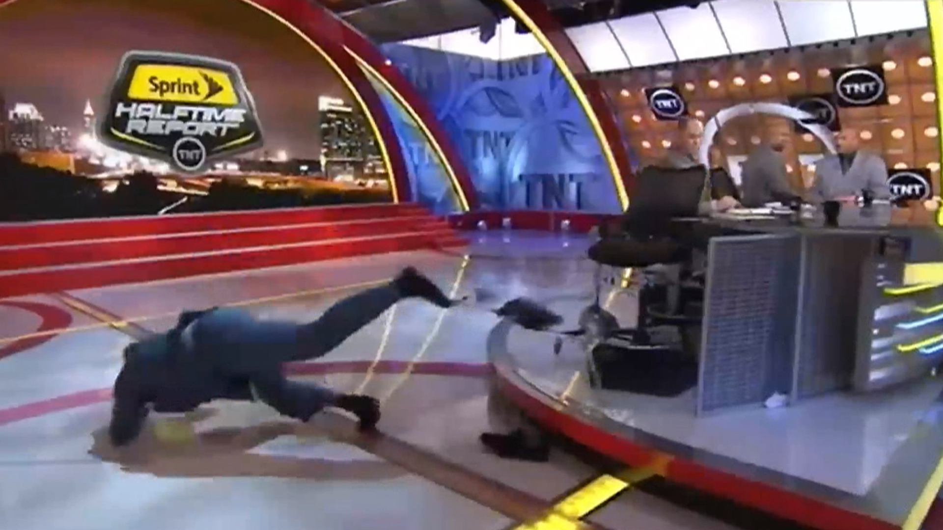 Wipeout After Fall On Set Shaq Offers Cash For Best Meme