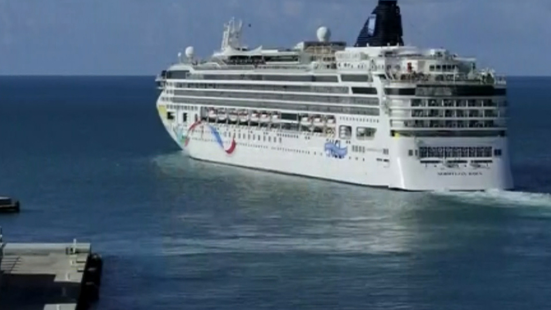 Norwegian Dawn Cruise Ship Loses Control Runs Aground Off Bermuda - Cruise ship dawn