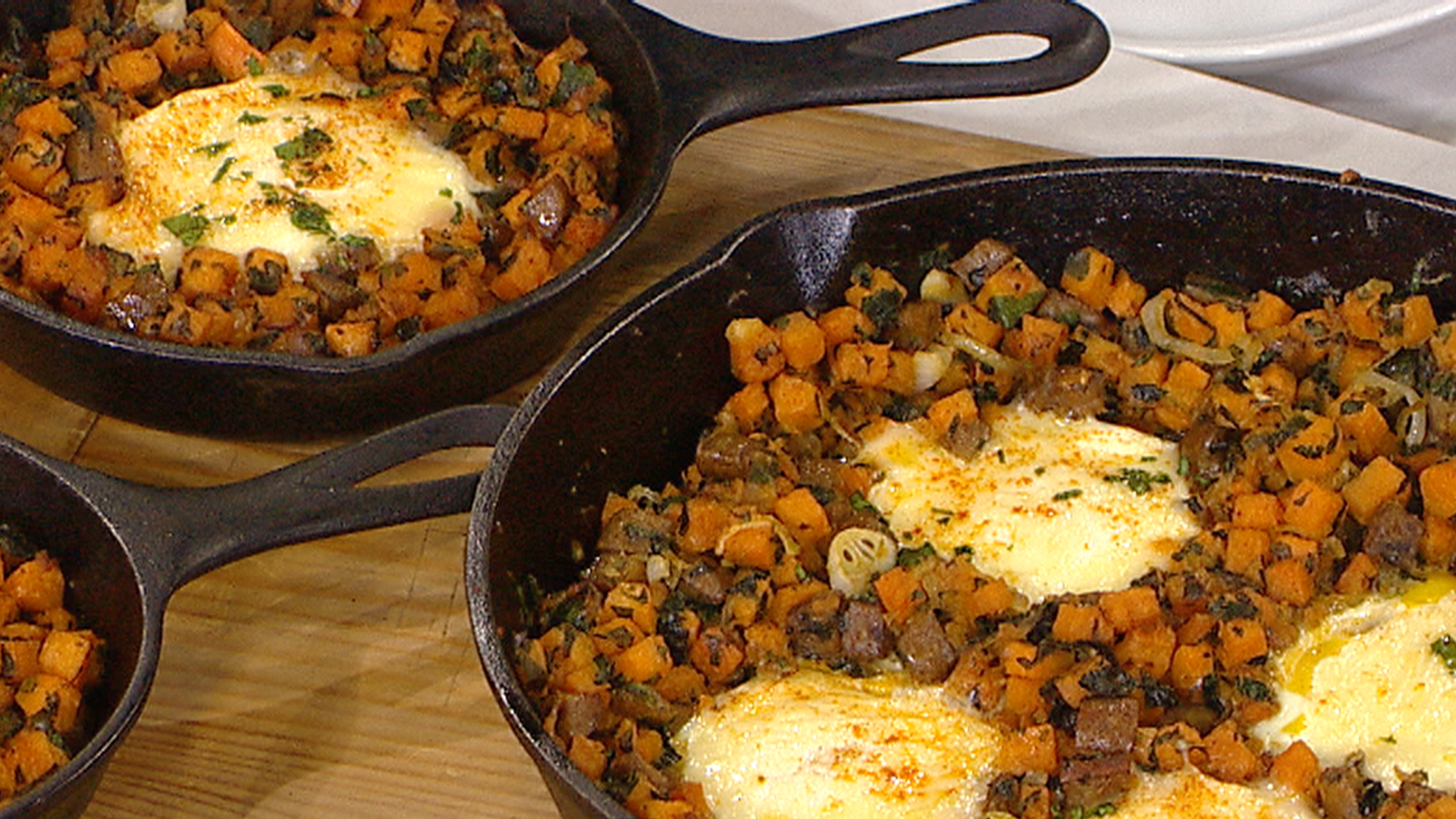 Try sausage and sweet potato hash with baked eggs for brunch - TODAY ...