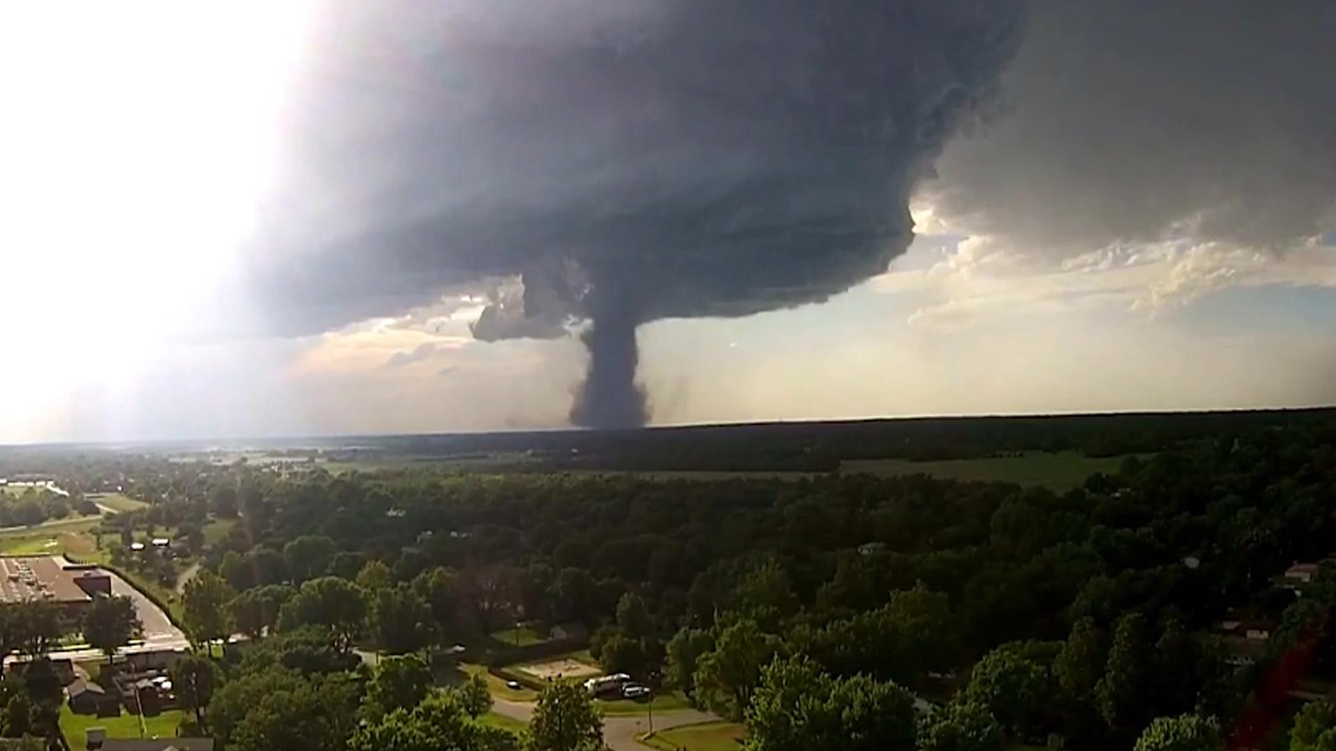 drone captures tornado touchdown