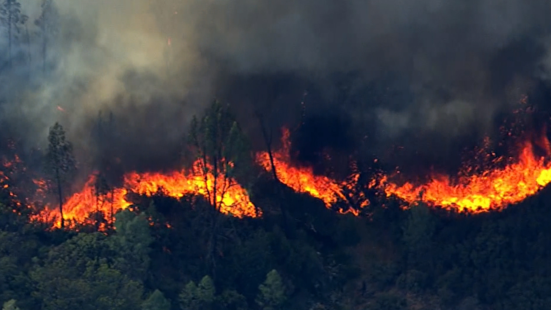 wildfire dubbed the jerusalem fire rages in california