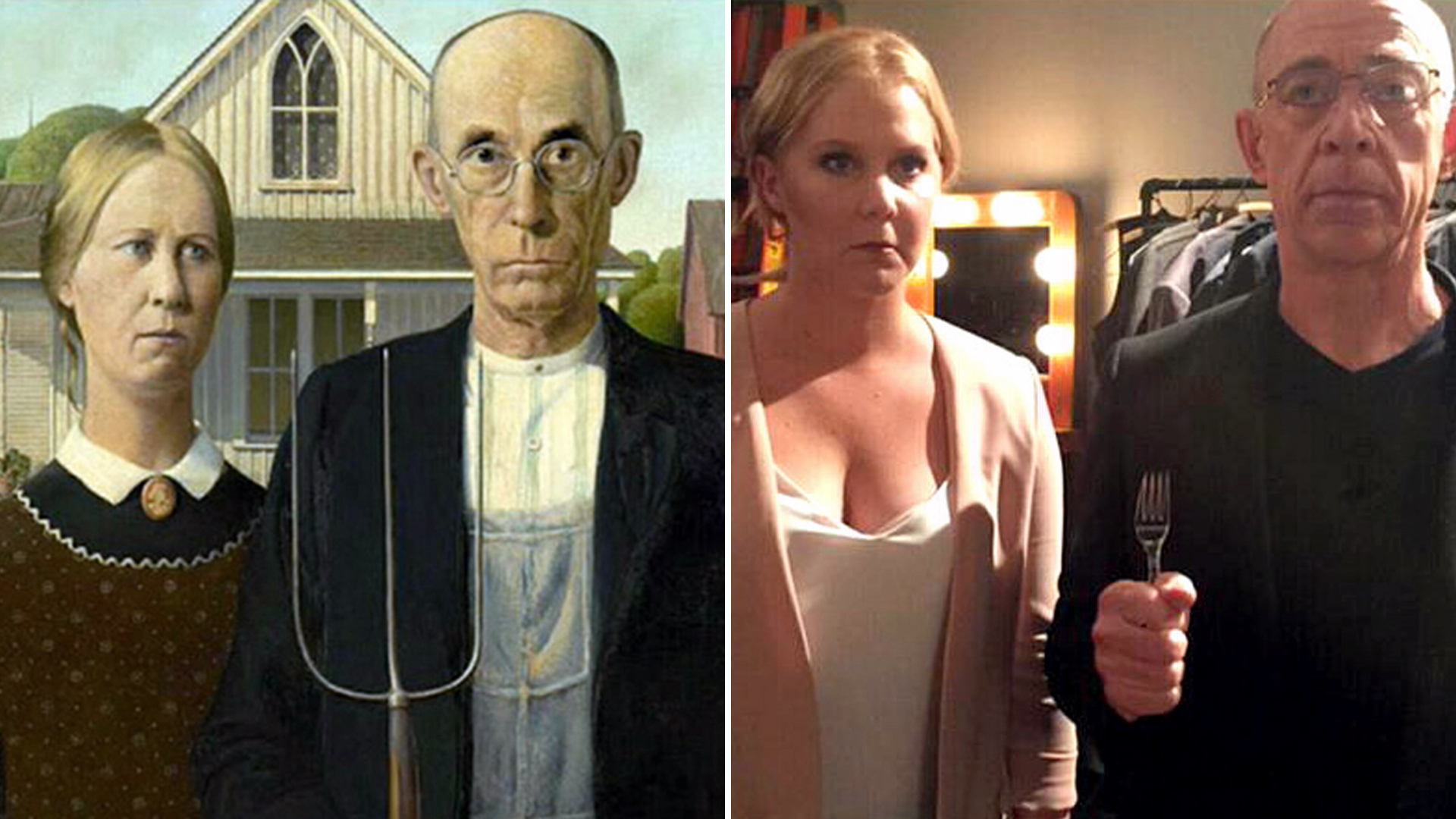 Amy Schumer And JK Simmons Re Create American Gothic
