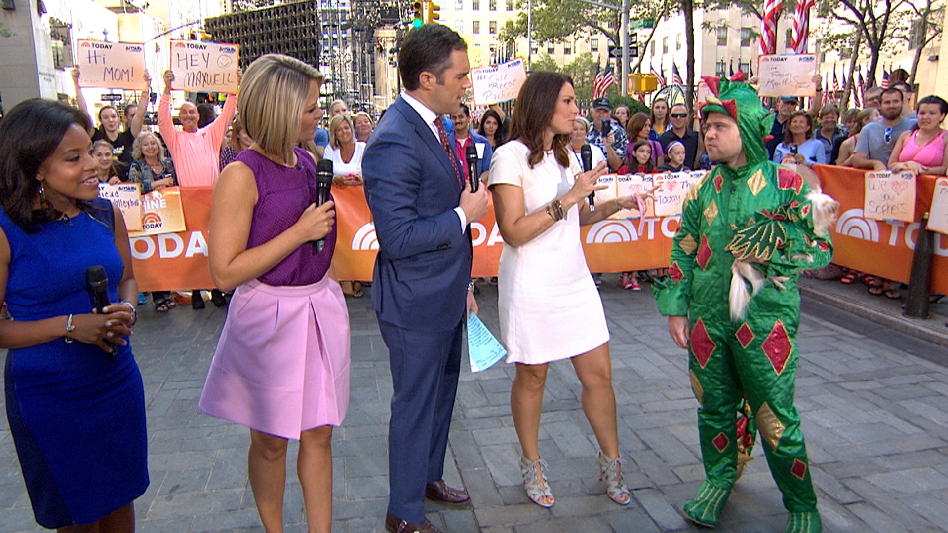 piff the magic dragon' dazzles today anchors with card tricks