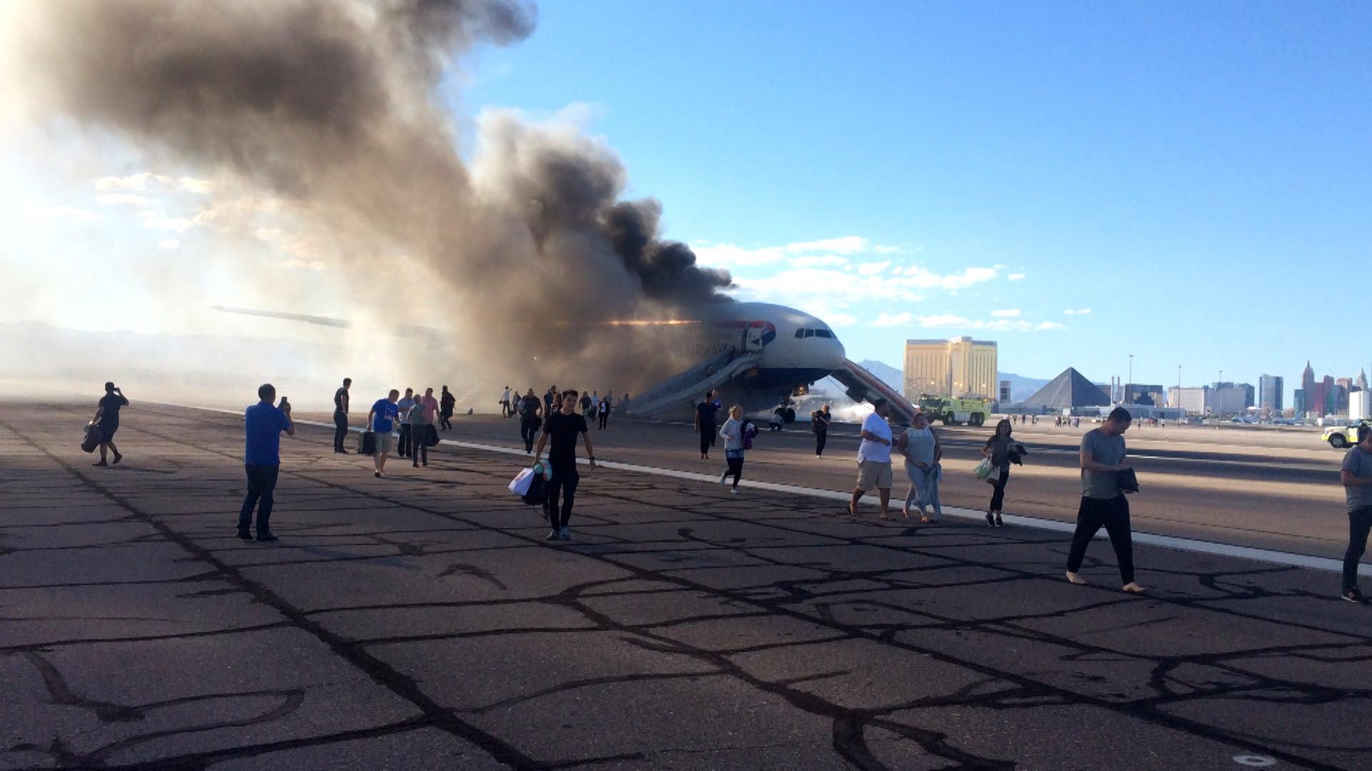 British Airways Jet Catches Fire at Las Vegas Airport; 20 Injured