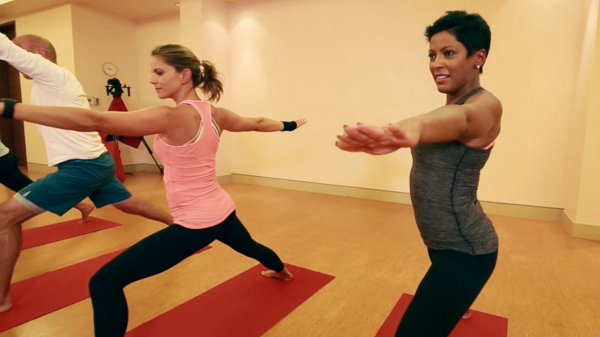 Today Anchors Try Hot Yoga The Sensation Sweeping The Us