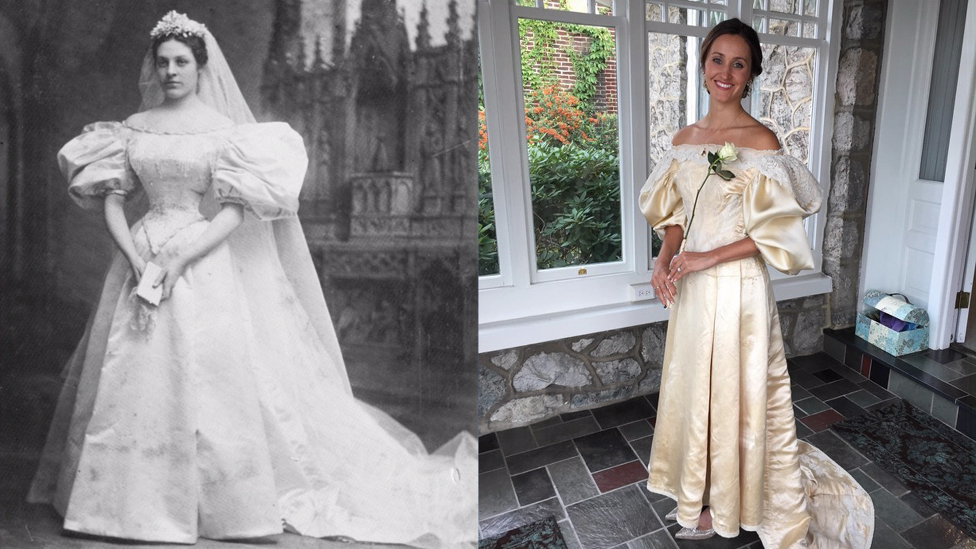 Bride will be 11th in her family to wear the same wedding for Restoring old wedding dresses