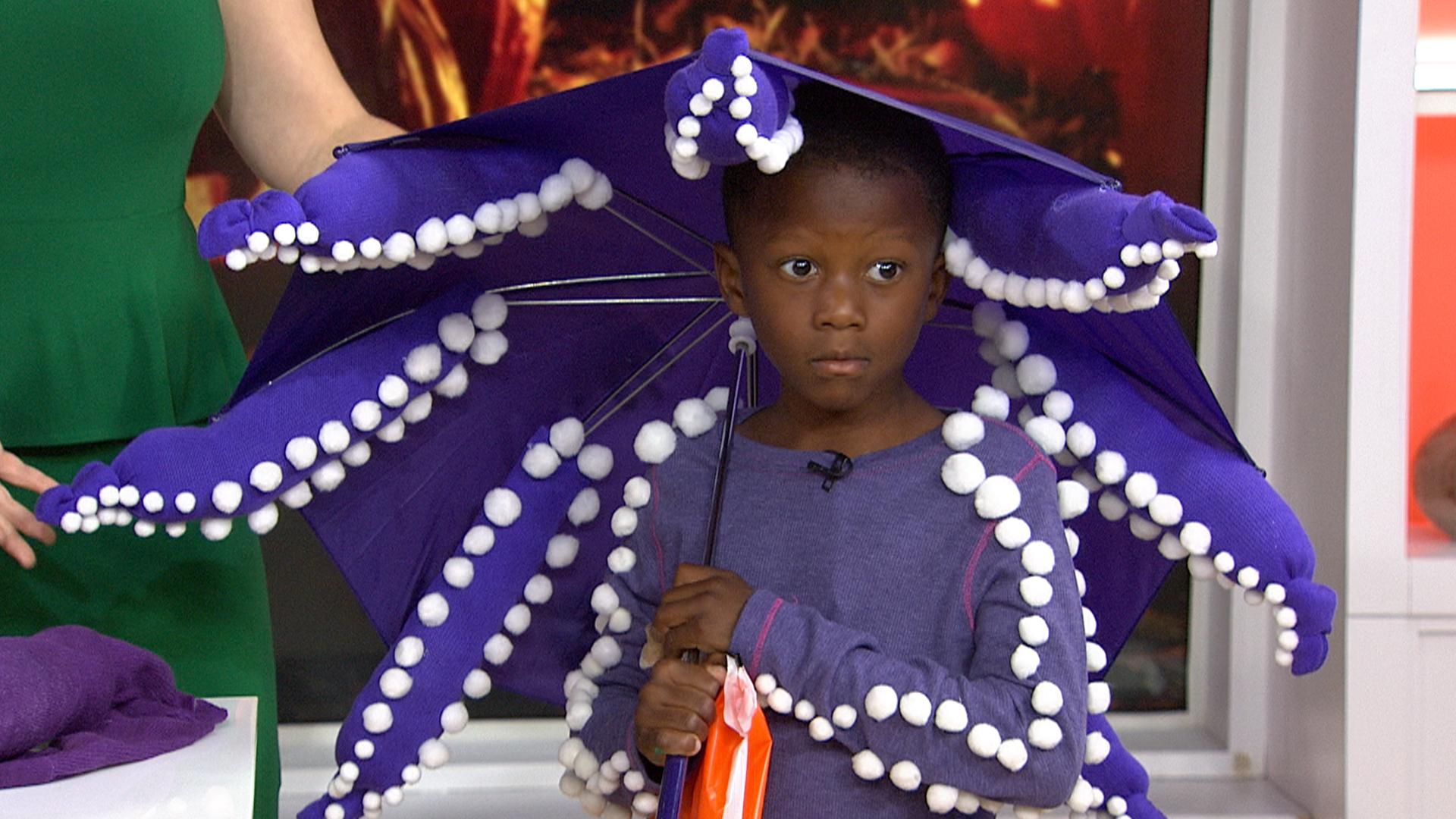 Diy halloween make an octopus costume out of an umbrella solutioingenieria Images