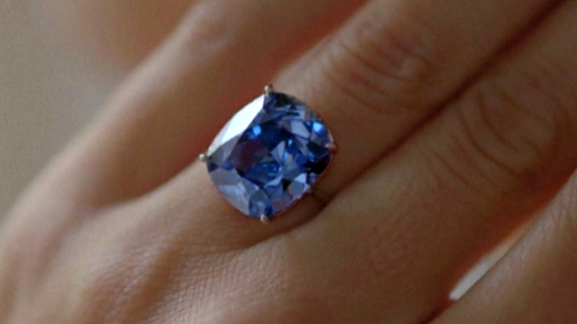 a engagement diamond features magnificent sapphires deco this glorious pin two mine ring from sapphire art old heat cut no vintage victor era rings blue barbone between carat