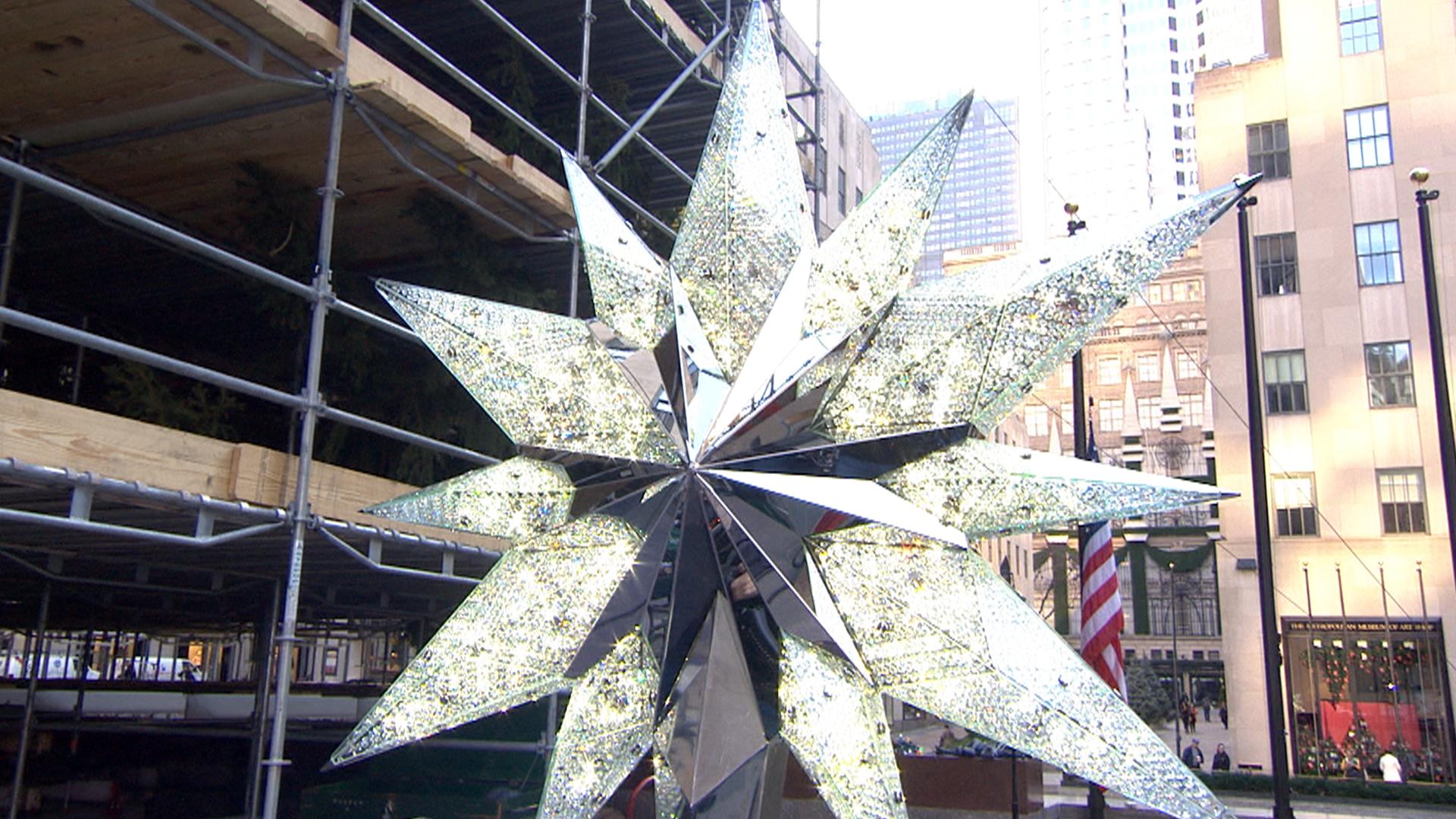 A first look at the Rockefeller Center Swarovski Christmas tree star