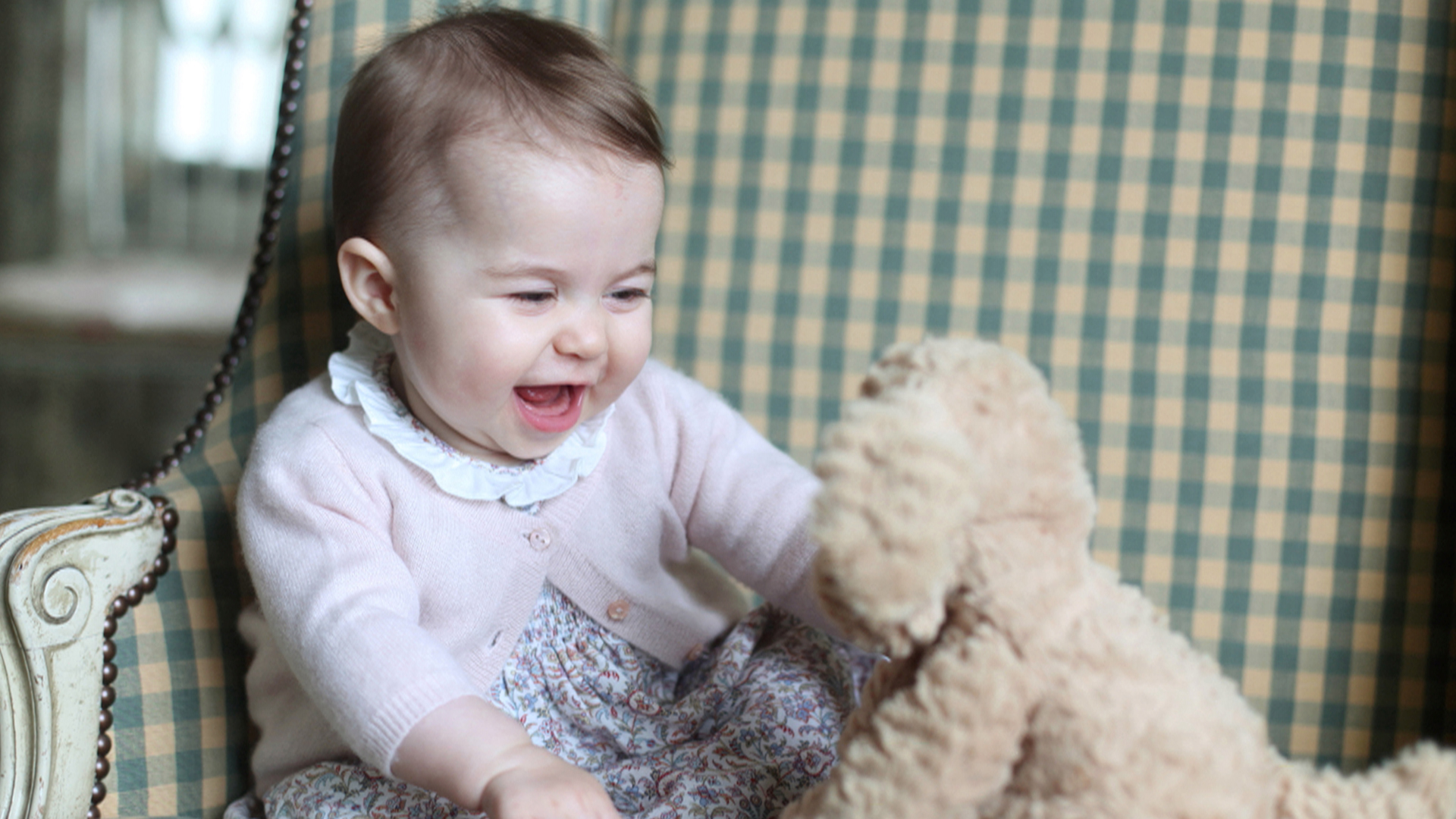 New Photos Show Britain's Princess Charlotte Playing