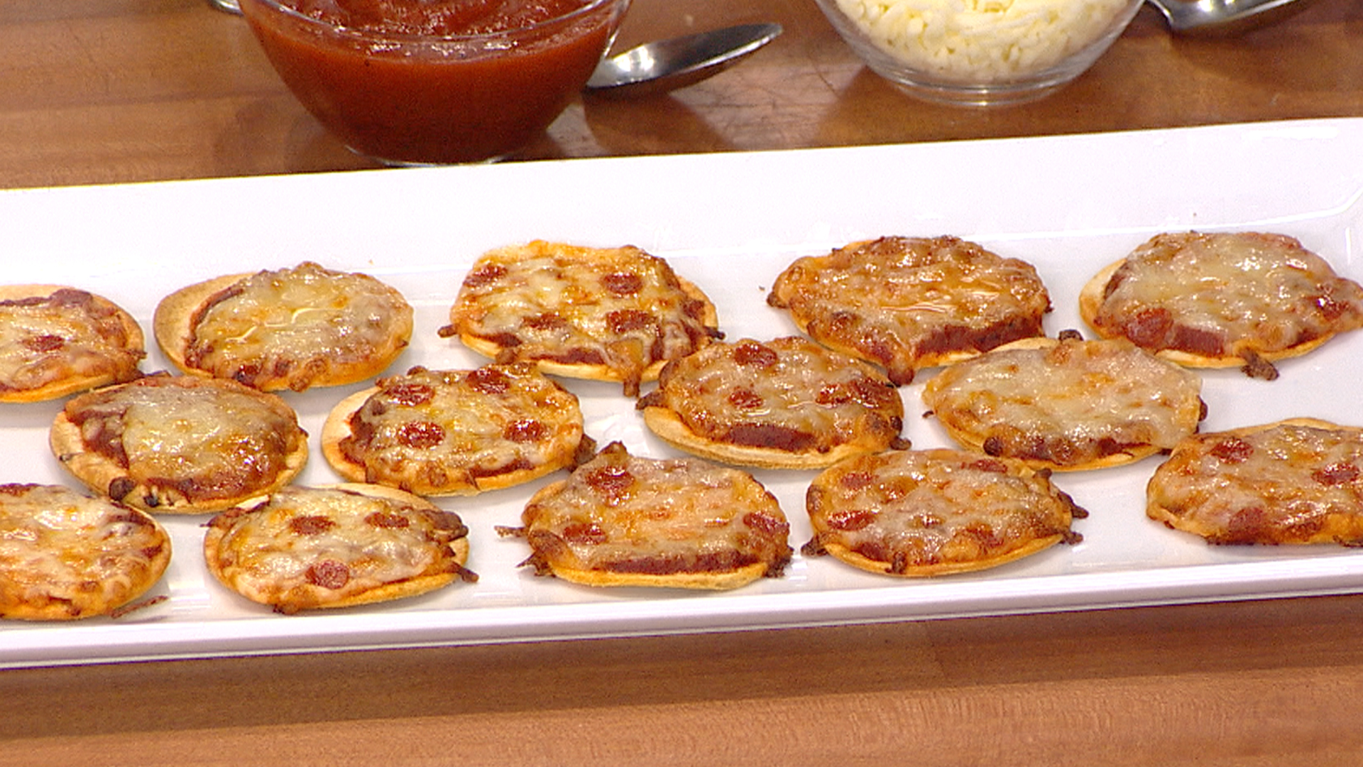 Mini Tortilla Pizzas Shrimp Cocktail Easy New Year S Appetizers