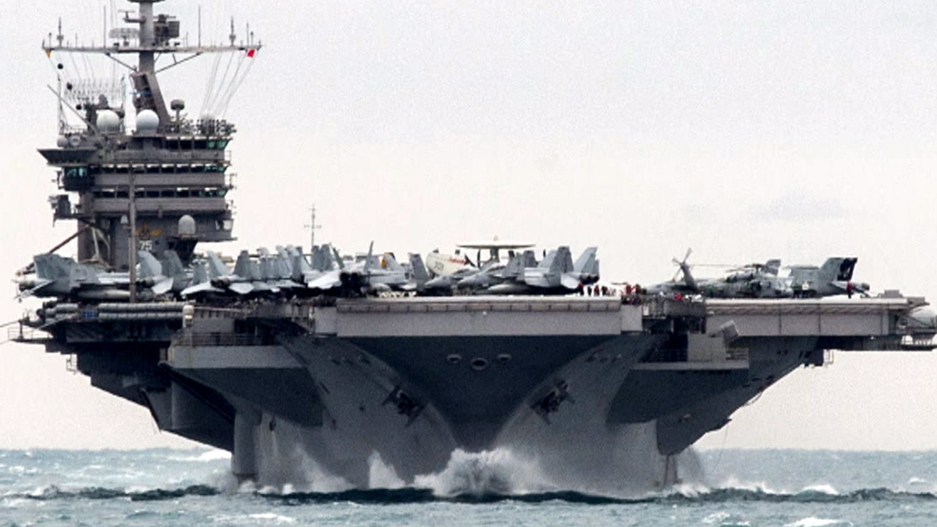 u s carrier harry s truman has close call with iranian rockets