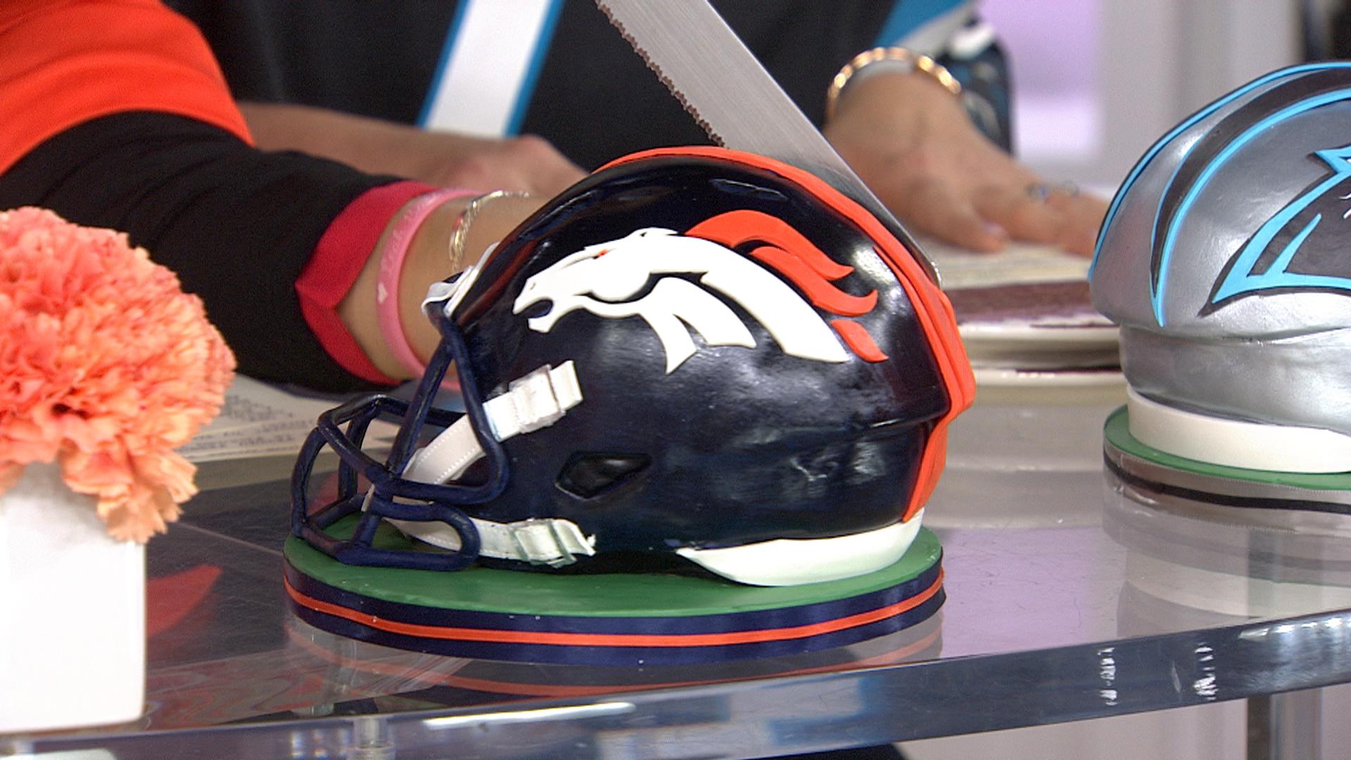 Hoda and Jenna Bush Hager dig into Super Bowl cakes