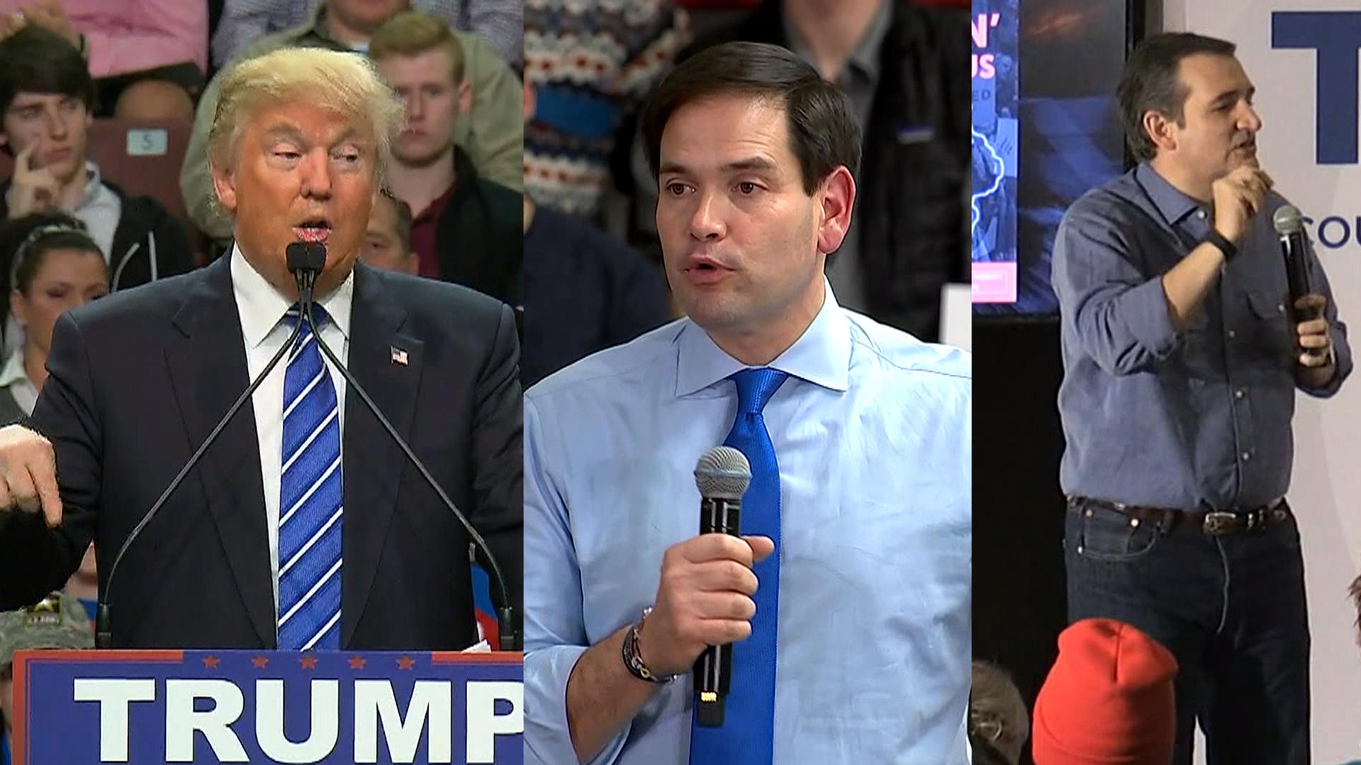 Republicans trading blows before Saturdays debate