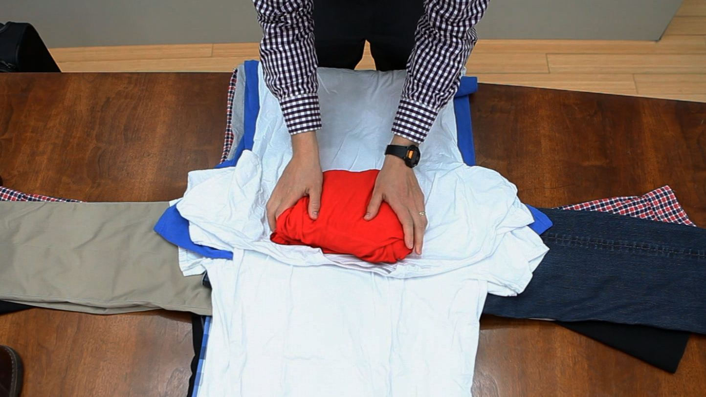Best way to fold clothes for a trip - How To Pack Like A Pro Bundle Wrapping Means No Wrinkles No Fuss Today Com