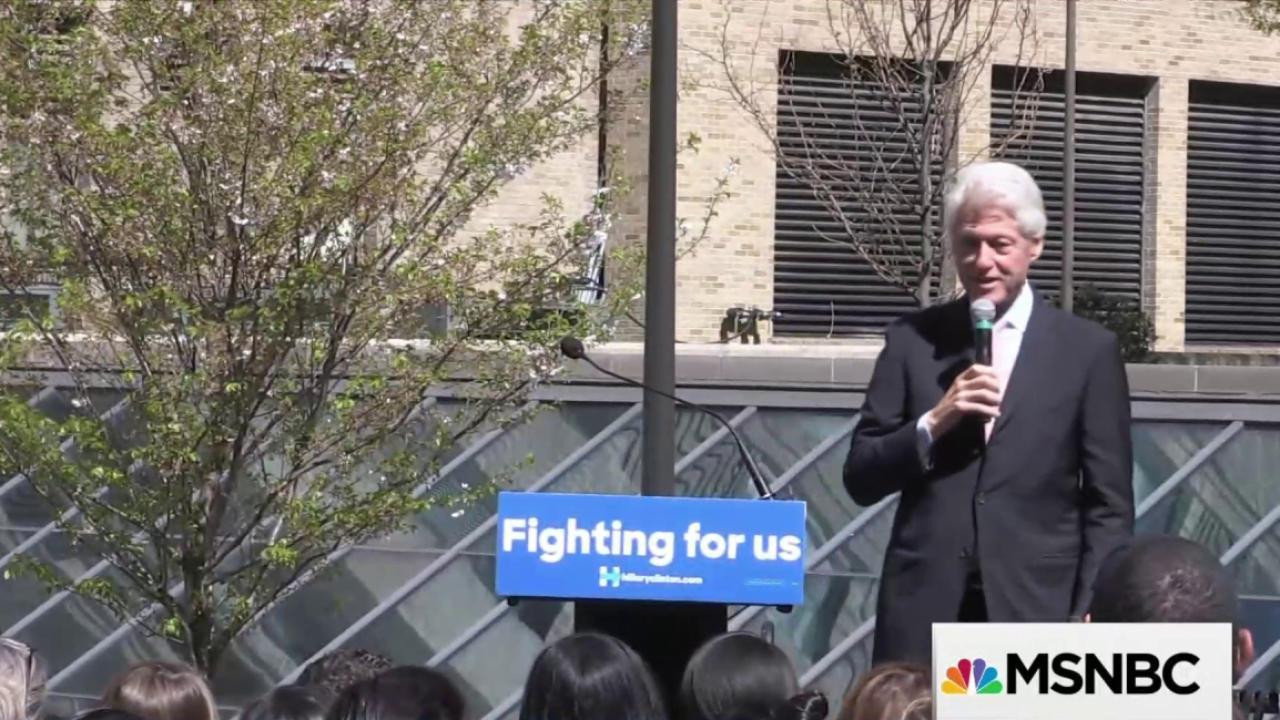 Bill Clinton's role in the 2016 campaign