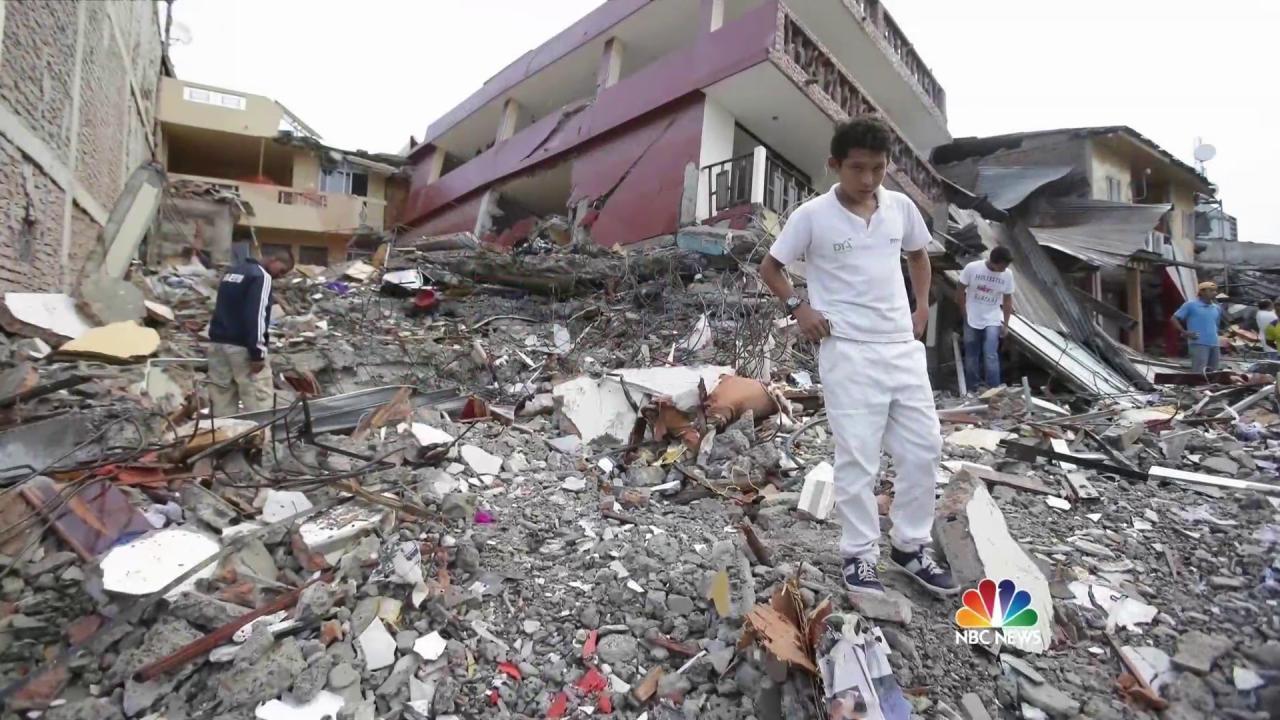 Ecuador Earthquake Death Toll Rises to 413, One American Dead
