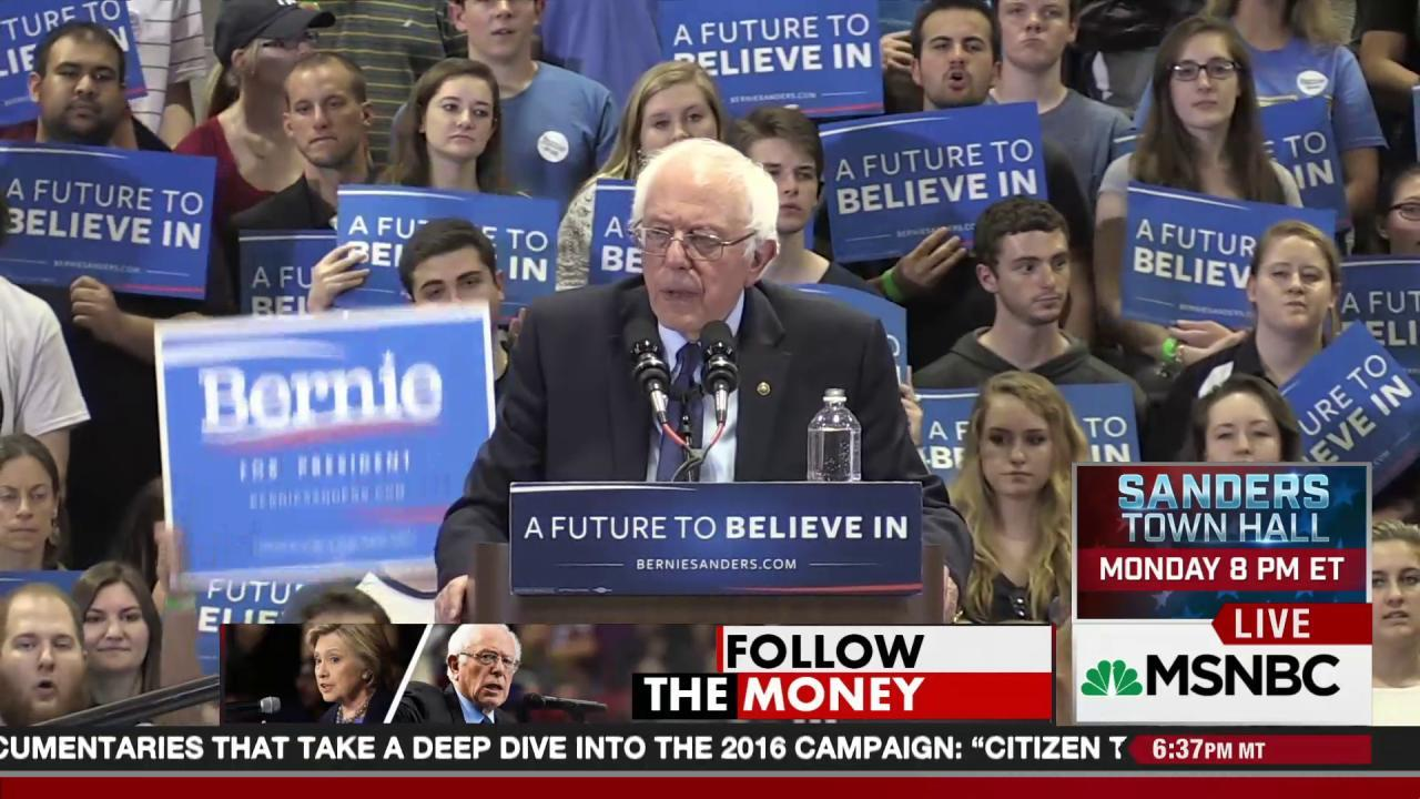 Bernie is going all the way