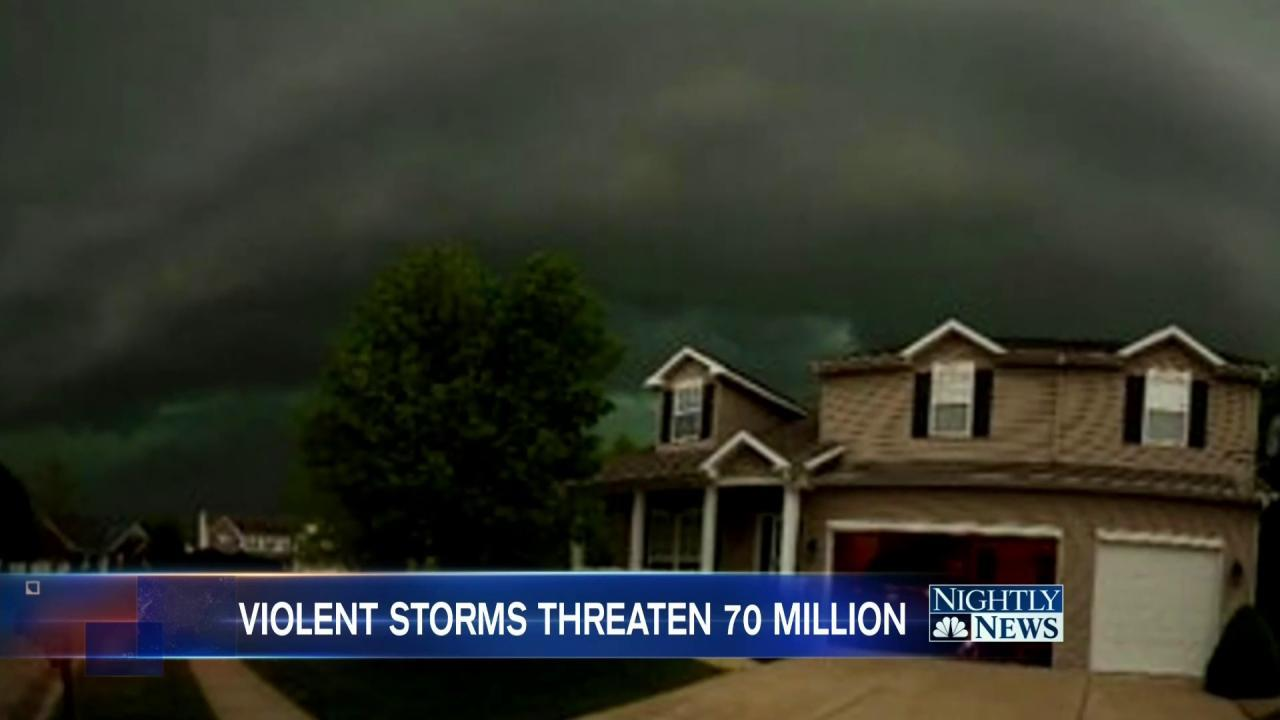 70M Americans Face Severe Weather Threat Across Central U.S.