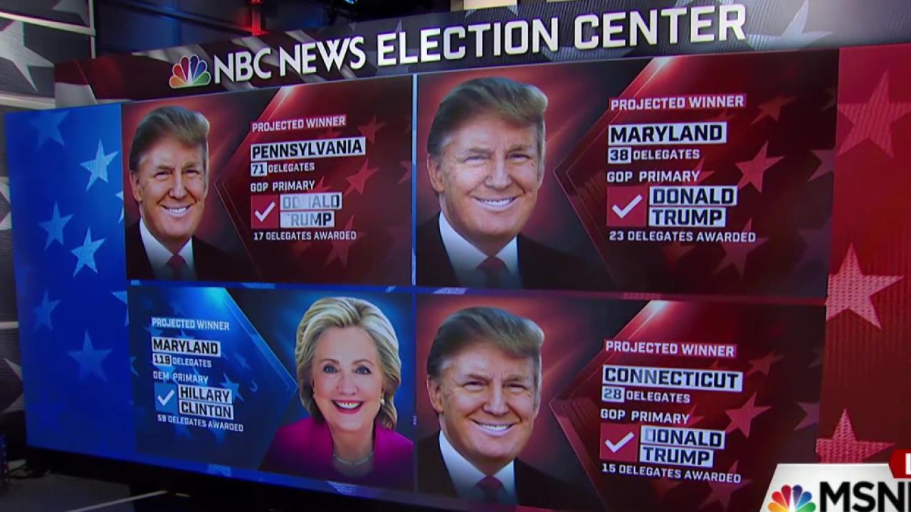 NBC: Trump, Clinton score 'significant' wins