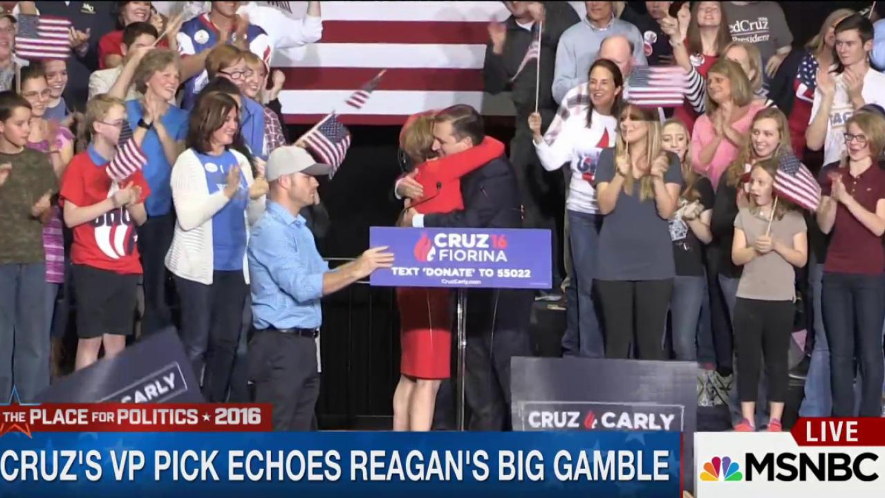 Cruz's VP pick echoes Reagan's gamble