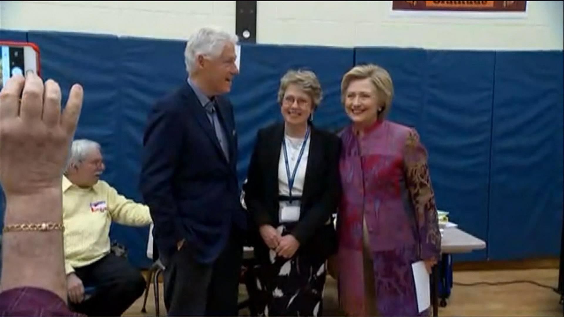 See Hillary Clinton vote in New York primary