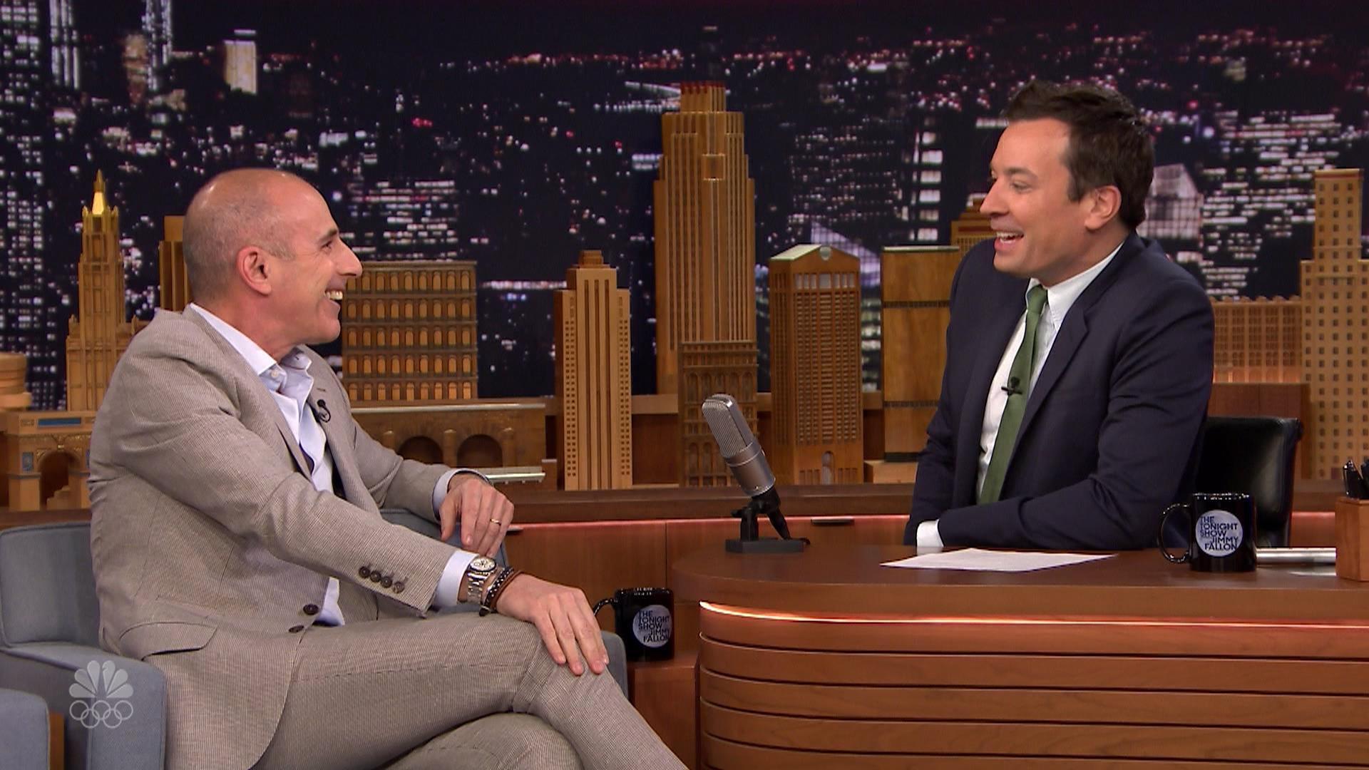 Jimmy Fallon Teases Matt Lauer About His Hair