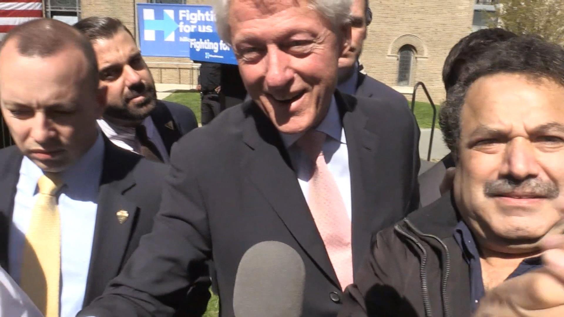 Bill Clinton jokes about Sanders supporters