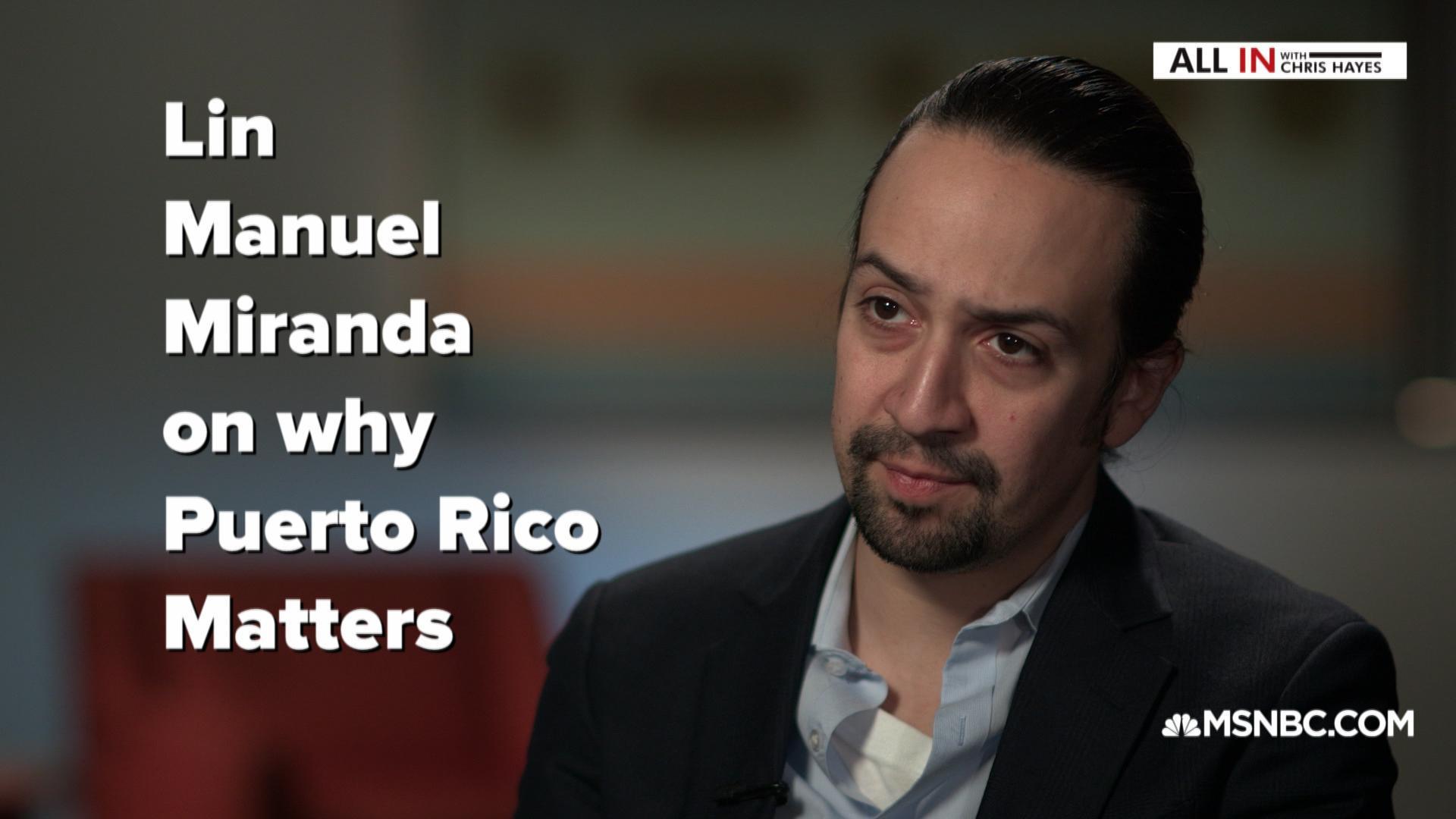 Lin-Manuel Miranda on saving Puerto Rico