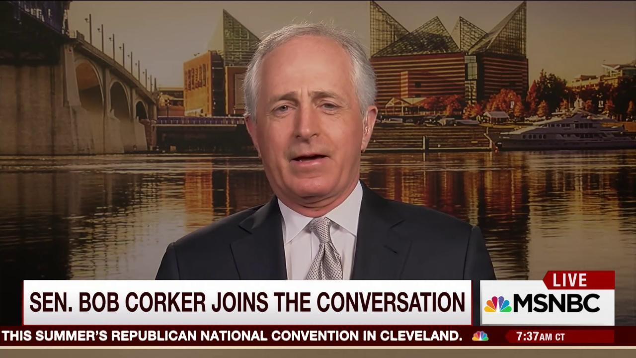 Sen. Corker to GOP on Trump: Let's chill