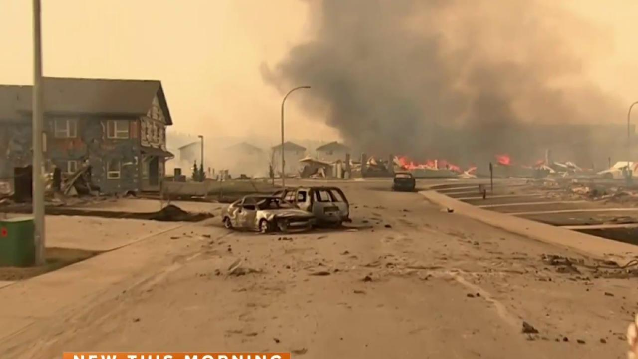 Fort McMurray Wildfire: Evacuees Relocated as 'Absolutely Vicious Fire' Burns Uncontrollably